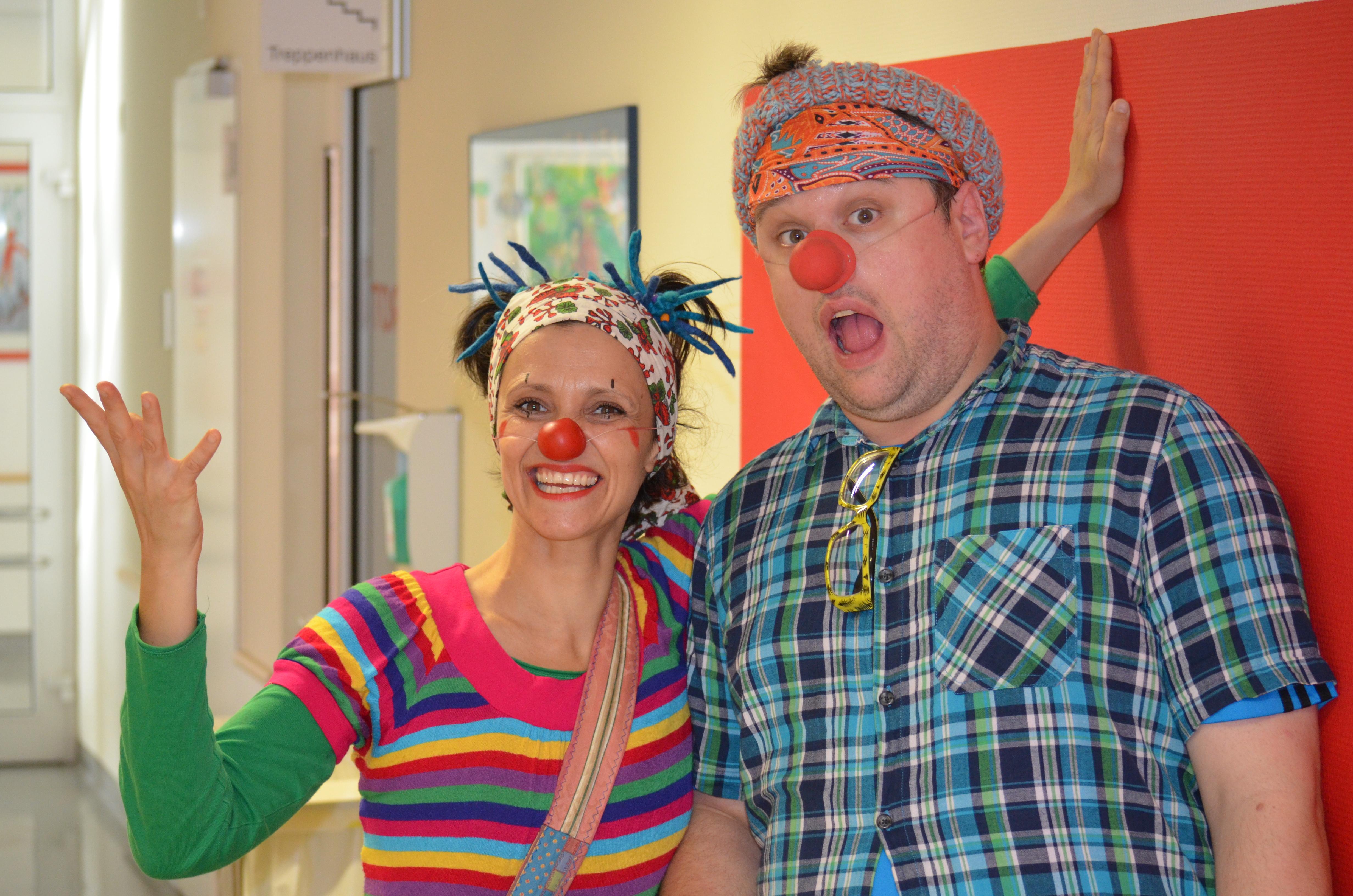 Clownsvisite in der Helios Kinderklinik Wuppertal